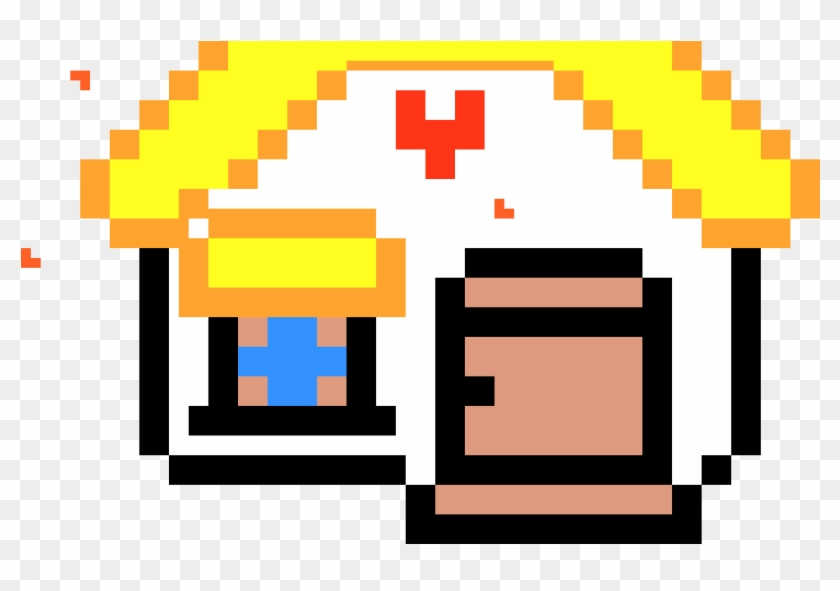 Cute Pixel Art House Heart Eyes Emoji In Minecraft Hd Png