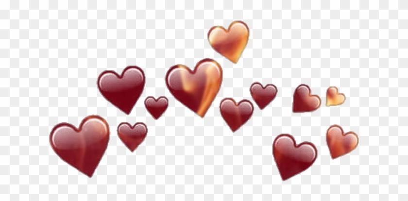 hearts #red #fire #emoji - Corona De Corazones Negros, HD Png