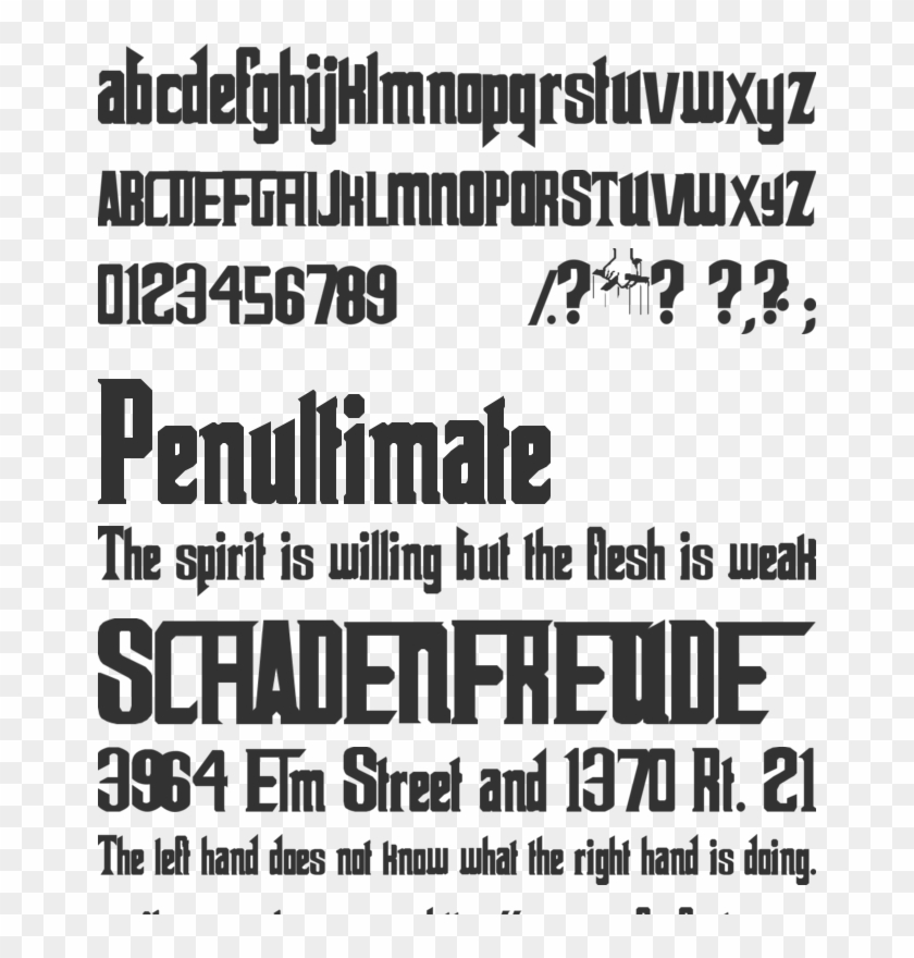 The Godfather Font Preview - Godfather, HD Png Download