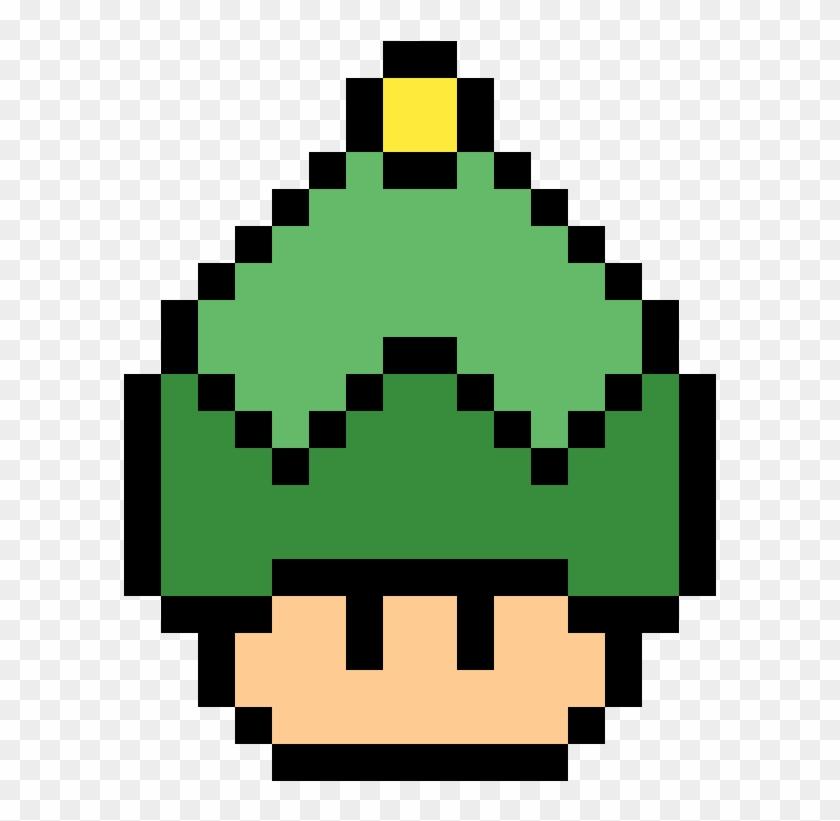 Elf Mushroom Mario Christmas Pixel Art Hd Png Download