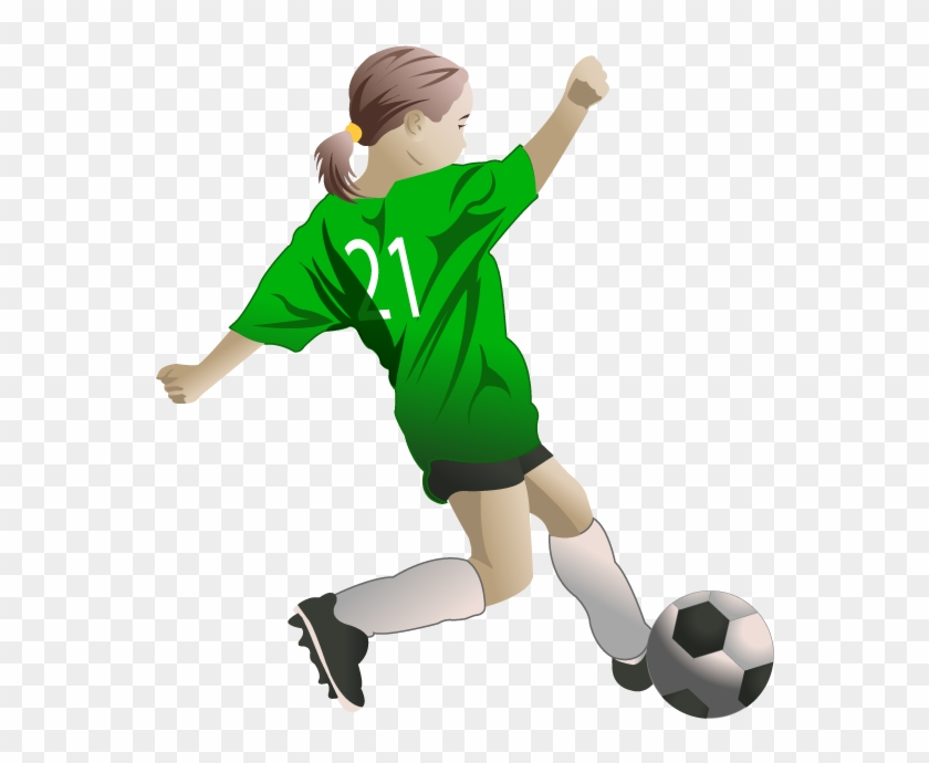 28 Collection Of Female Soccer Players Clipart - Girl Play