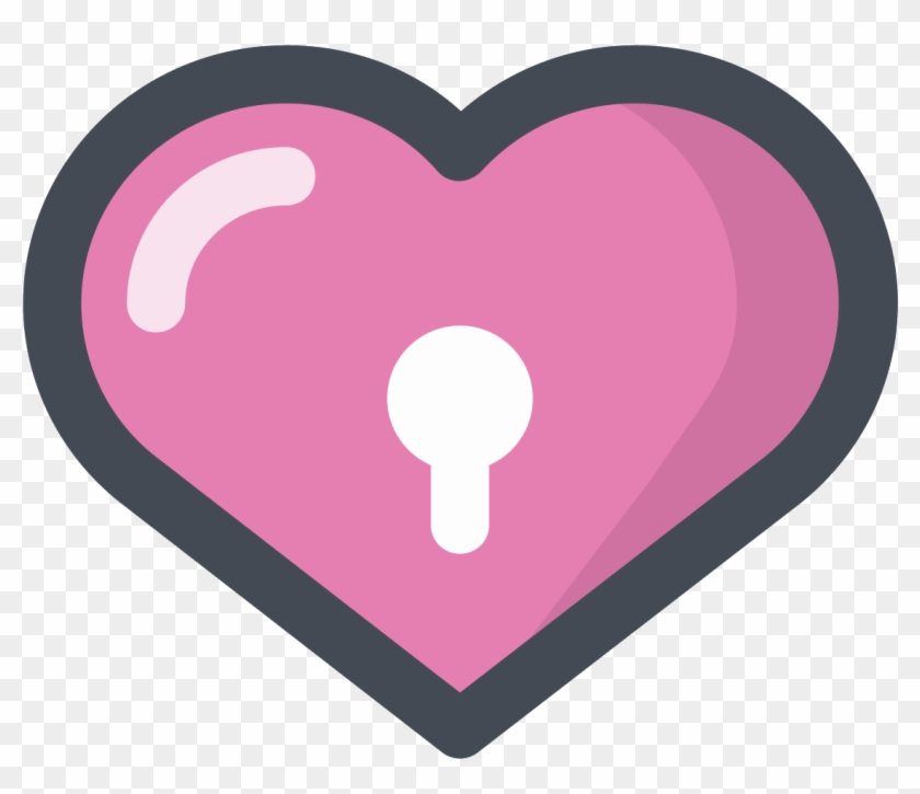 Pink Heart Icon - Love Icon Png Pink, Transparent Png
