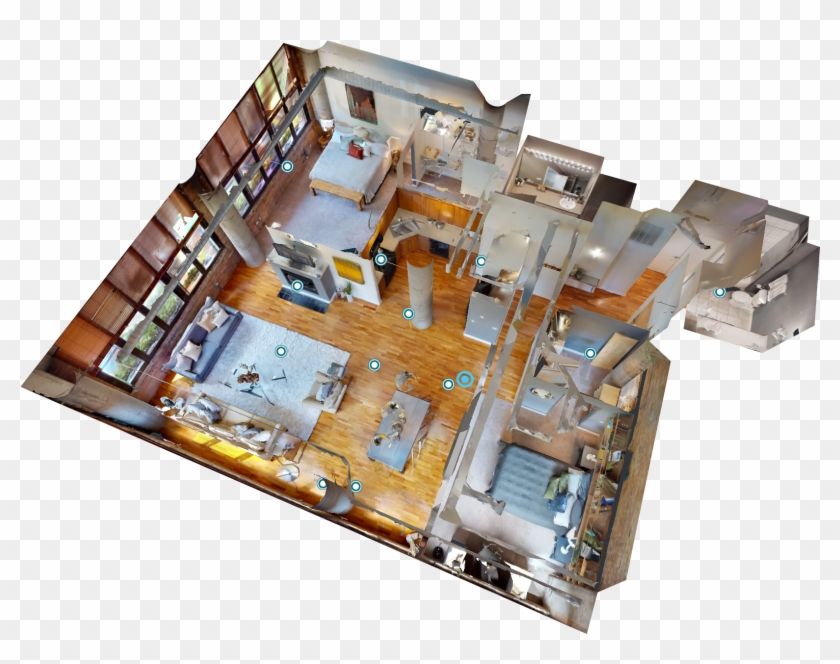 Dollhouse Example With Matterport's 3d Camera For Real - Floor Plan