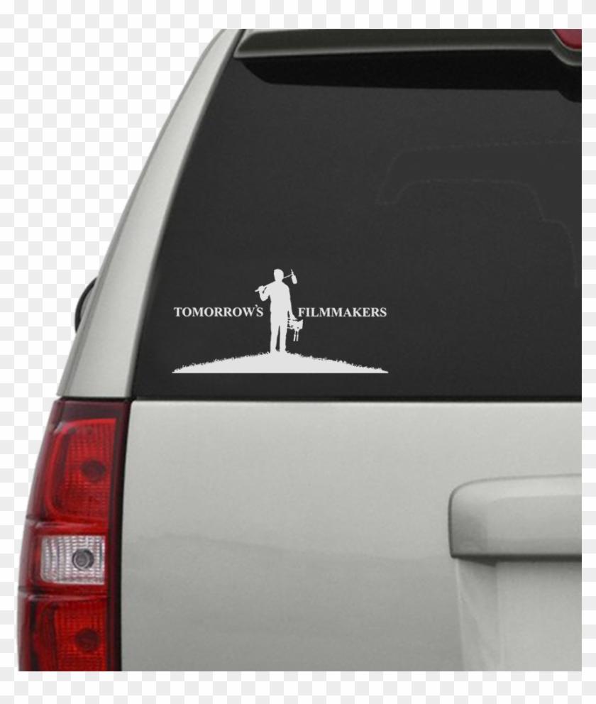 Tomorrows Filmmakers Car Window Decal - Car Sticker Mockup