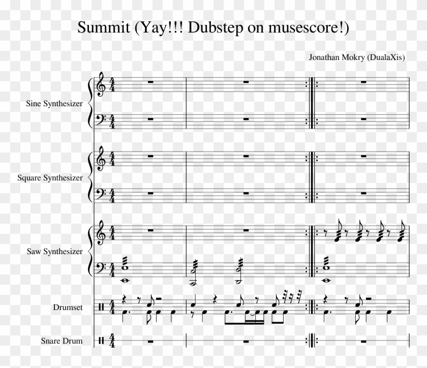 Dubstep On Musescore ) Sheet Music Composed By Jonathan