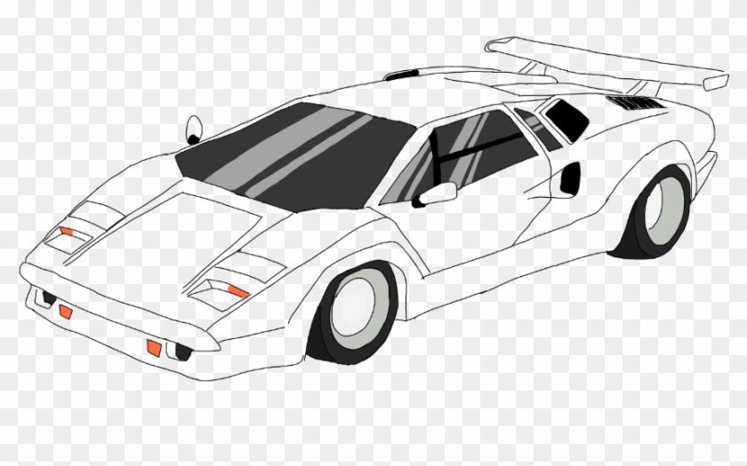 Lamborghini Countach Draw Drawing Drawn Digitalart