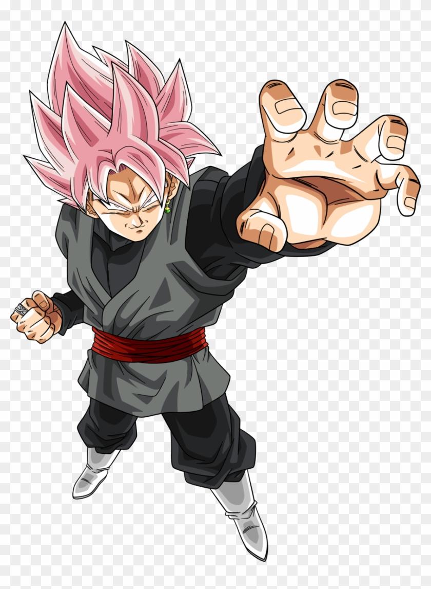 Goku Black Rose Png De Dragon Ball Super Black Transparent Png