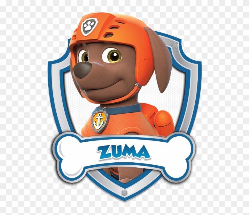 Paw Patrol Zuma Logo 4 By Julie Cap N Turbot Paw Patrol Hd Png