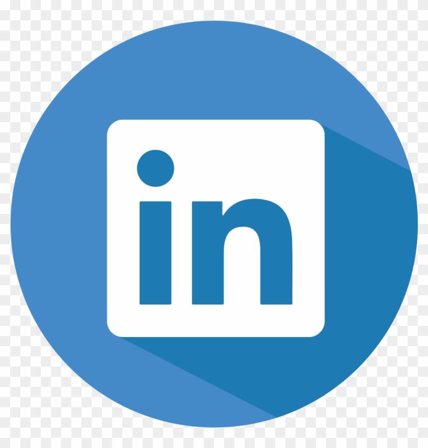 Blue, button, linkedin, social icon |Linkedin Icon Circle