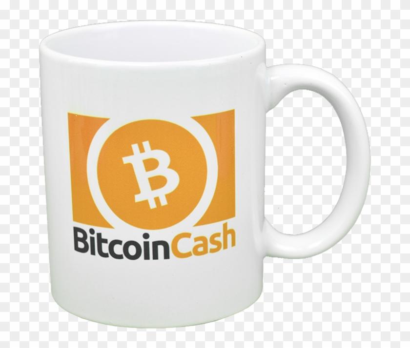 Ceramic Mug With Bitcoin Cash Logo Bitcoin Cash Png Transparent Png 682x634 5331321 Pngfind
