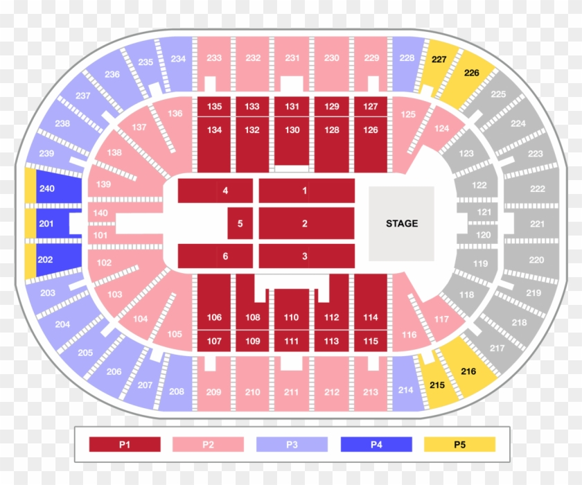 Tickets Seating Millennium Tour Seating Chart Hd Png