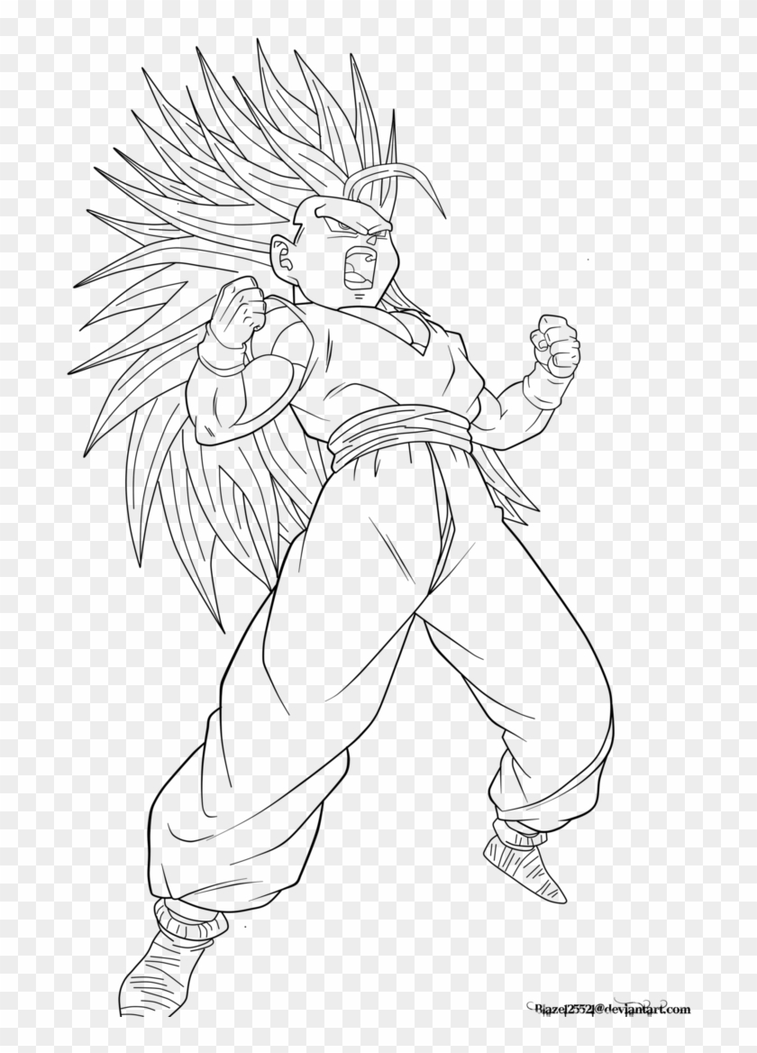 Teen Gohan Super Saiyan - Cute Girls Coloring Pages, HD Png ...