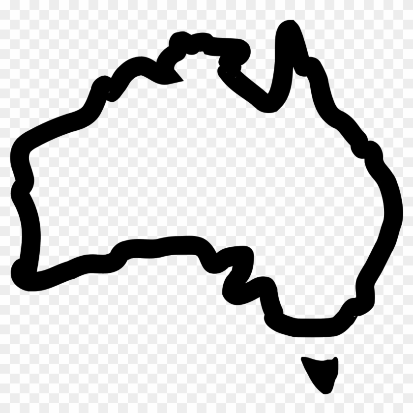 Australia Map Transparent.Png Royalty Free Australia Drawing Icon Australia Map Outline Icon