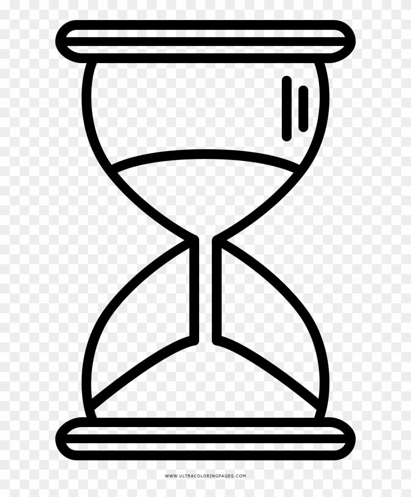 Dibujo De Reloj De Arena Para Colorear Line Art Hd Png