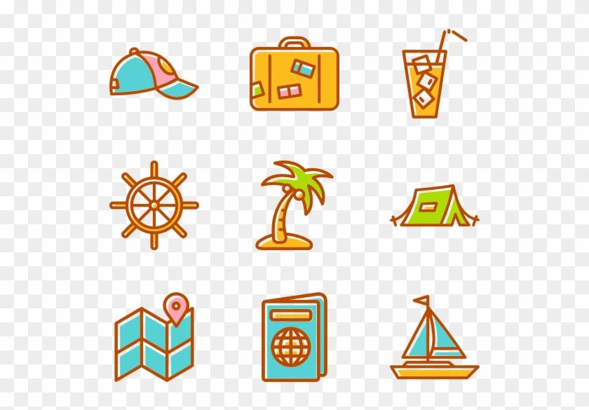Summertime Elements - Summer Icons Transparent Background