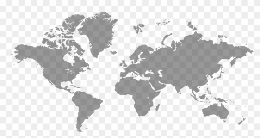 World Map Free Png Image World Map Gray Color Transparent Png