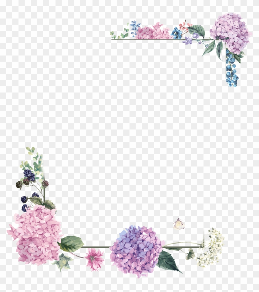 Frame Wedding Png - Flower Wedding Border Png Hd