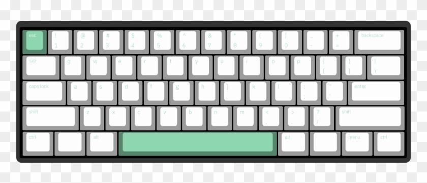 Minimal Mint By Cedar 61-key Custom Mechanical Keyboard