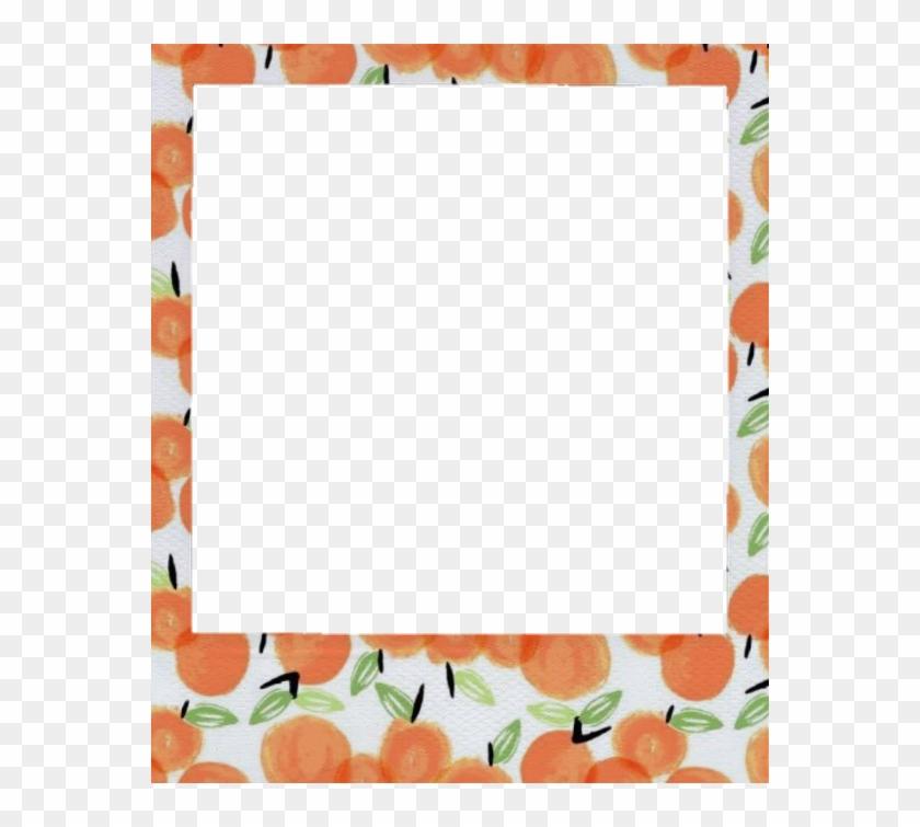 Aesthetic Clipart Peach Cute Polaroid Frame Transparent