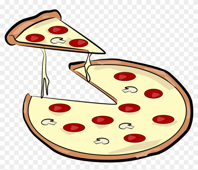 Pizza Slice - Pizza Cartoon Black And White Png , Free Transparent Clipart  - ClipartKey