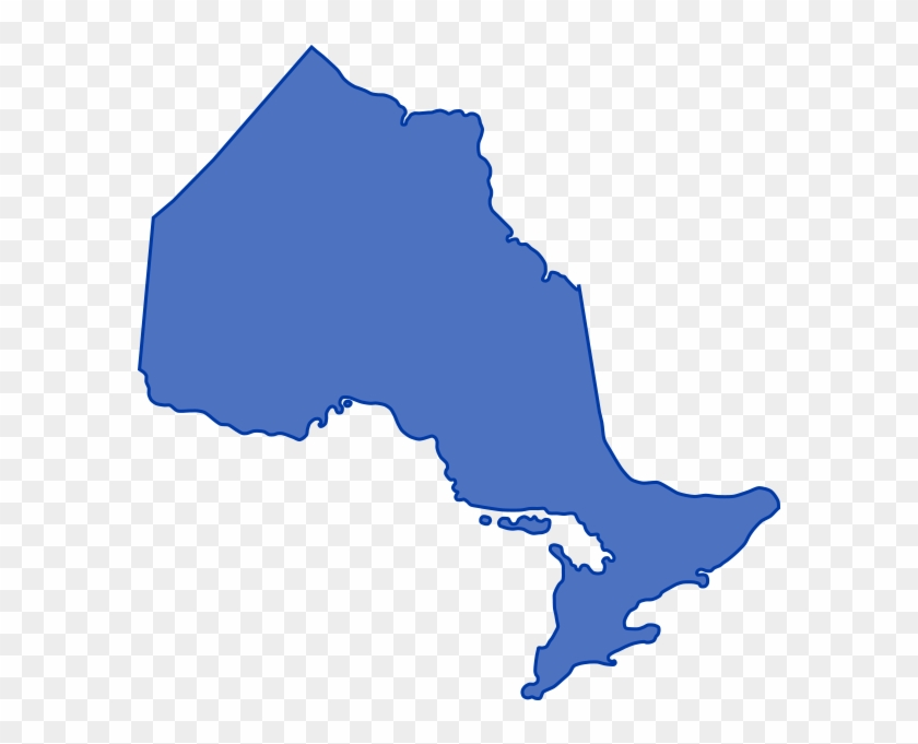 Map Of Canada Simple.Map Ontario Blue Simple Ontario Canada Map Hd Png Download