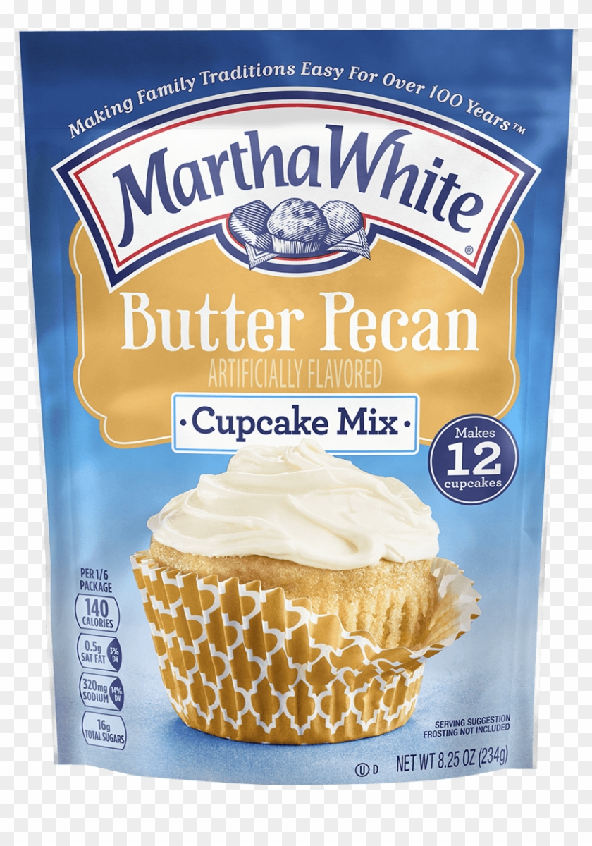Butter Pecan Cupcake Mix - Martha White Butter Pecan Cupcakes, HD