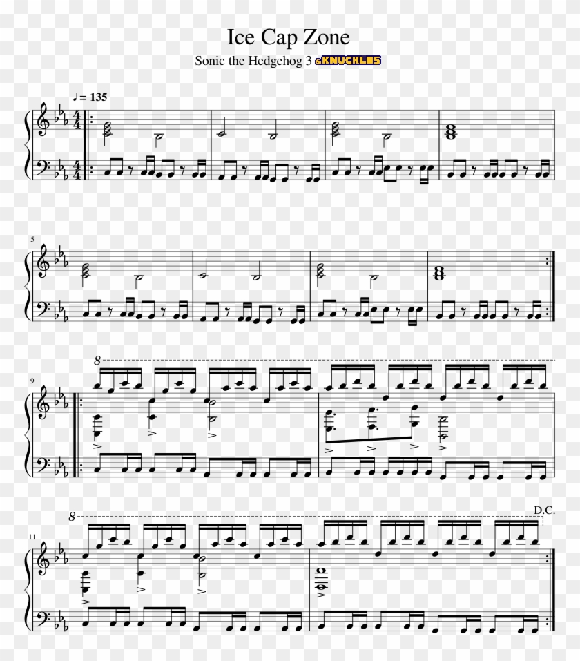 Sonic The Hedgehog 3 Knuckles Invader Zim Theme Sheet Music Hd Png Download 850x1100 5426140 Pngfind