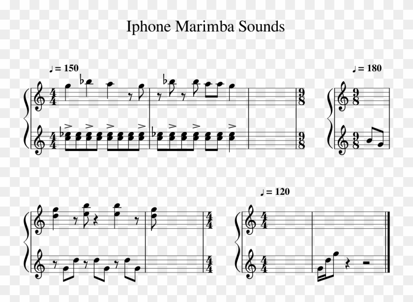 Iphone Marimba Sounds Sheet Music For Percussion Musescore