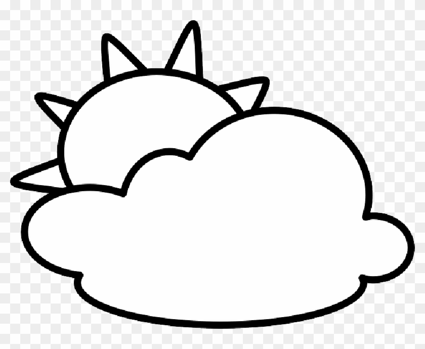 Sun And Clouds Clipart Black And White Cloud Clipart Black N