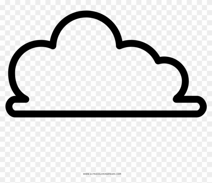Dibujo Para Colorear De Unas Nubes Line Art Hd Png
