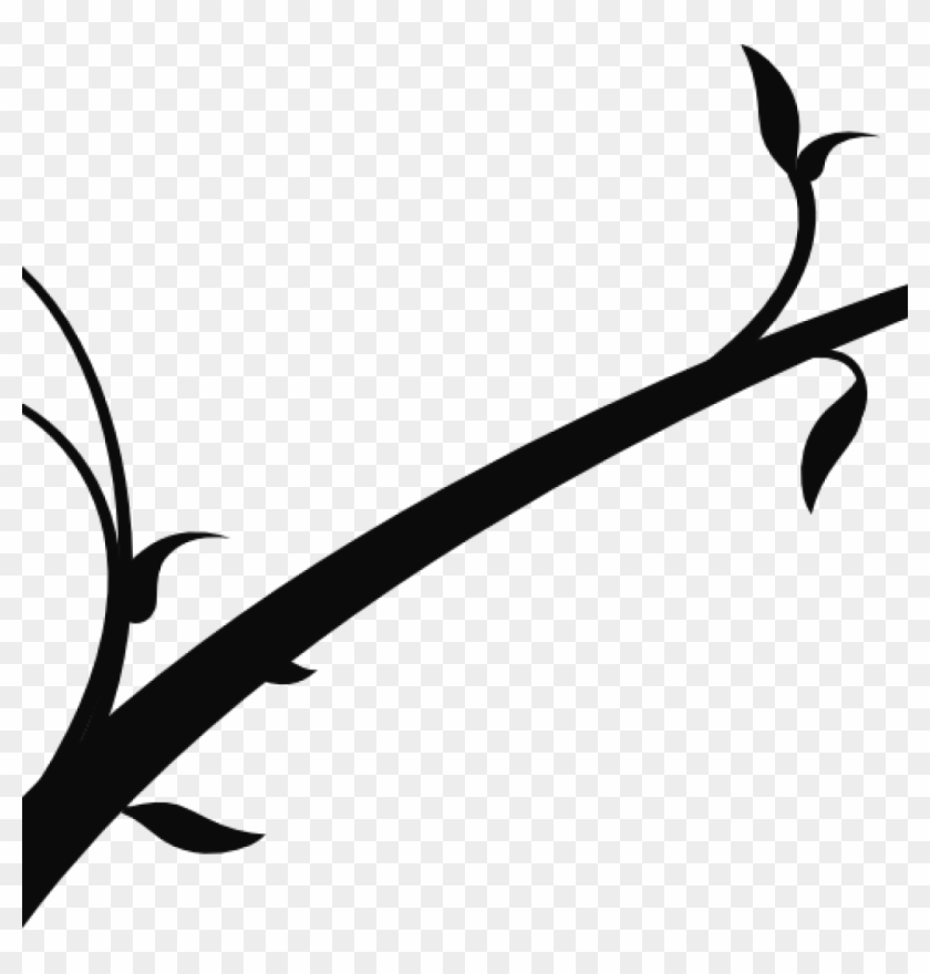 Branch Clipart Spring Branch Clip Art At Clker Vector Black Tree