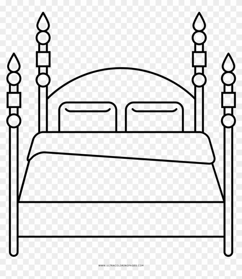 Gambar Mewarnai Tempat Tidur HD Download 1000x1000