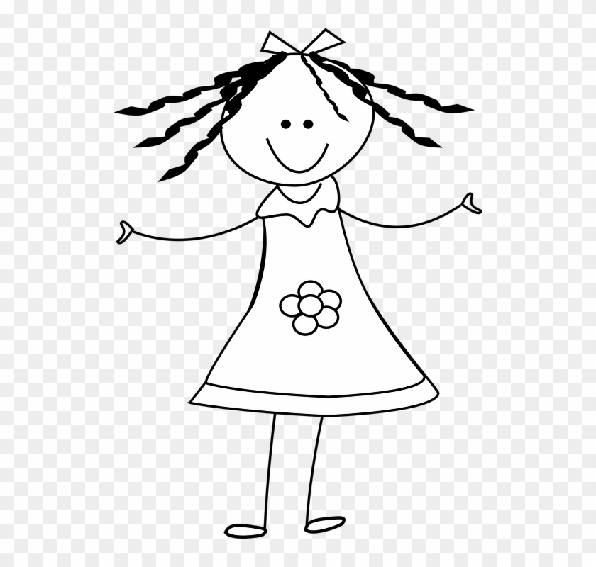 Royalty Free Stock Stick People Designs of Girls   Stick figures, Art,  Fabric painting