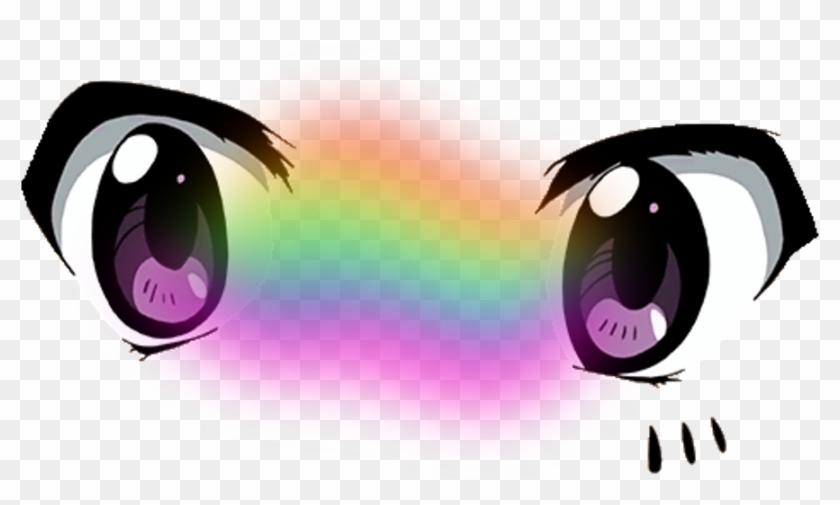Anime Sticker Anime Cute Eyes Png Transparent Png 1024x664 551297 Pngfind