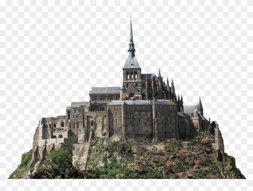 Castle Fortress Png Clipart Free Image - Mont Saint-michel