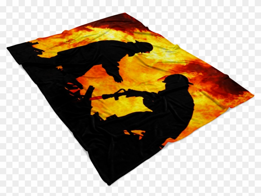 putting out the fire firefighter blankets - visual arts, hd png download  free  download