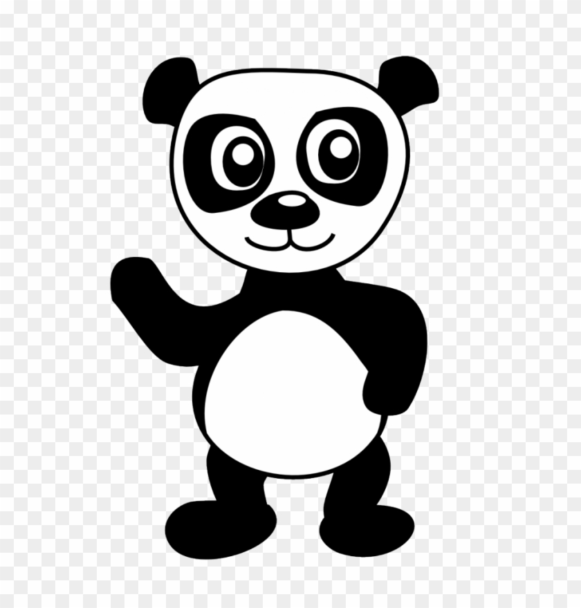 Learning Friends Panda coloring printable | 880x840
