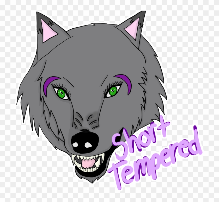 Angry Wolf - Cartoon, HD Png Download - 743x709(#5532425 ...