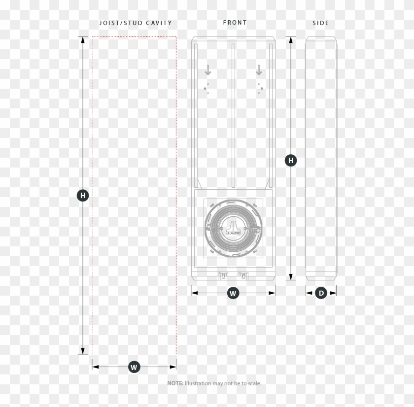 2 X 6 Inch Joist Stud Enclosure Physical Specifications Technical Drawing Hd Png Download 530x746 5545841 Pngfind