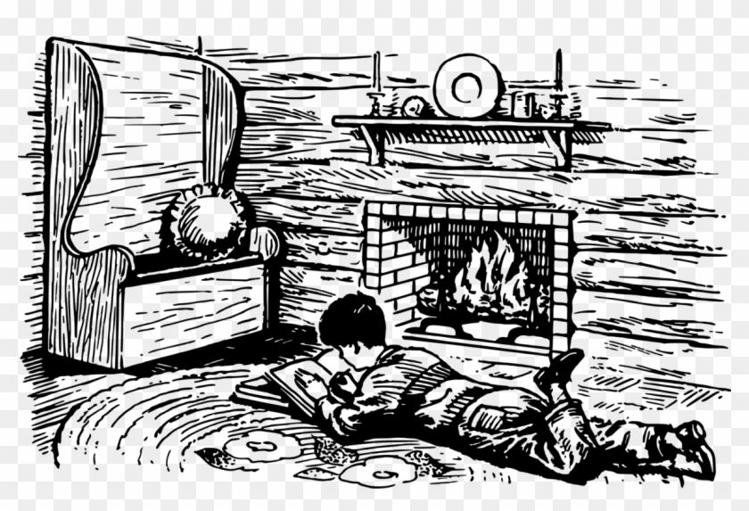 Brilliant Fireplace Computer Icons Drawing Black And White Chimney Home Interior And Landscaping Palasignezvosmurscom