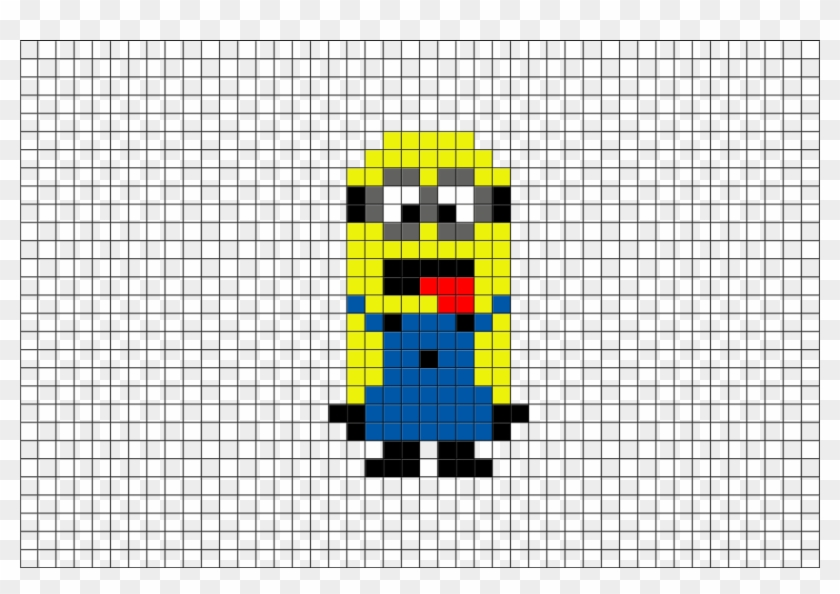 Minion Pixel Art Hd Png Download 880x581 5594124 Pngfind