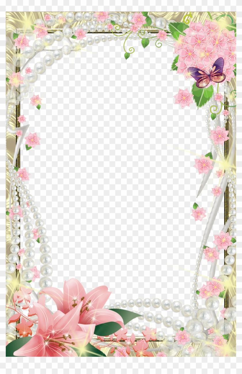 Photoshop Frames - Floral Front Page Design, HD Png Download