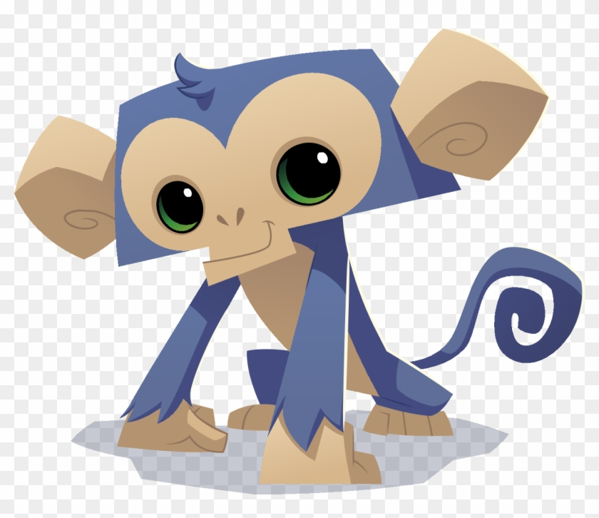 Cute Cartoon Monkey Png Pic Animal Jam Animals Monkey Transparent Png 1310x1070 561471 Pngfind