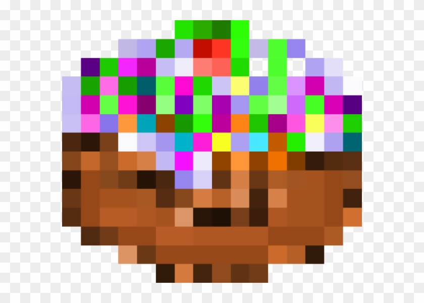 Minecraft Cake Png Graphic Design Transparent Png 594x520