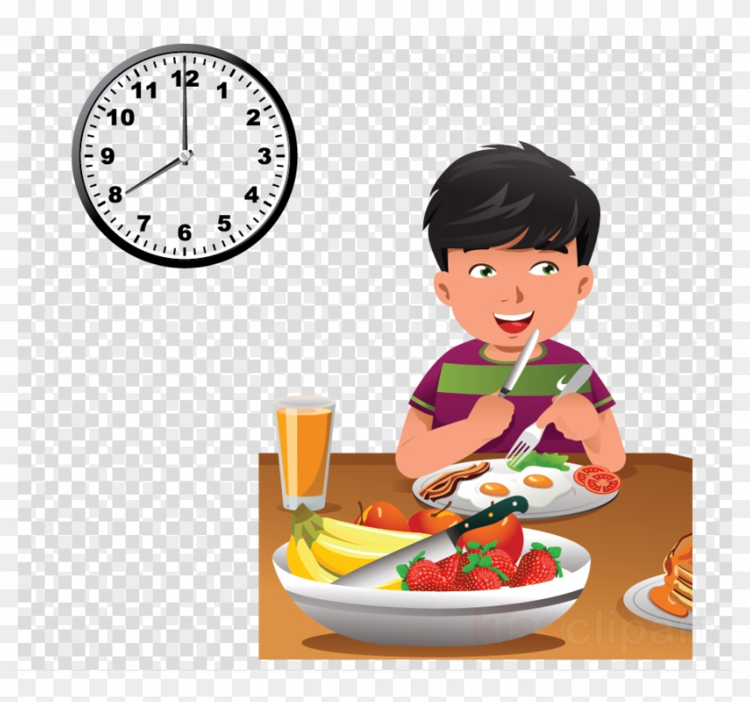 Child Eating Healthy Food Cartoon Clipart Breakfast - Have ...