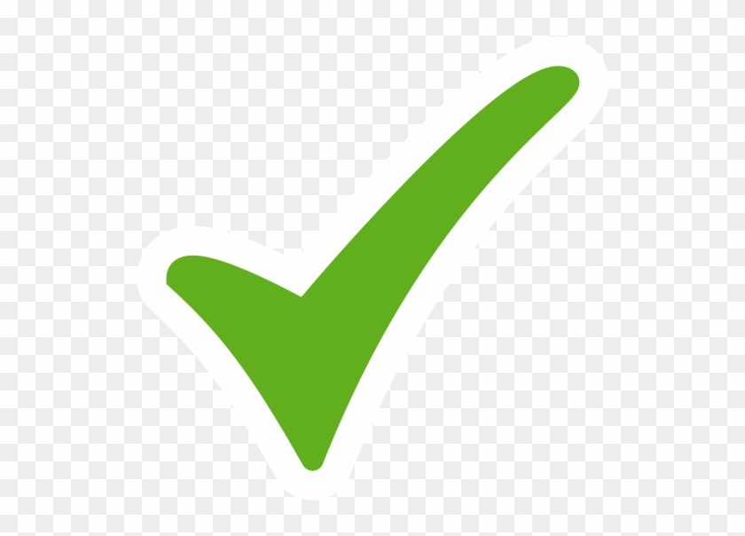 Green Tick Right Sign Transparent Background, HD Png