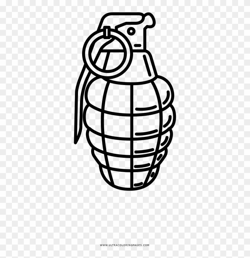 Hand Grenade Coloring Page Desenho De Uma Granada Hd Png