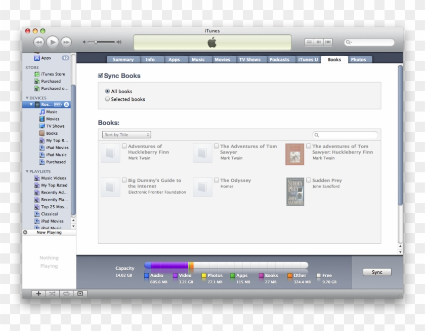 Now Launch Ibooks On Your Ipad - Applications Tab In Itunes