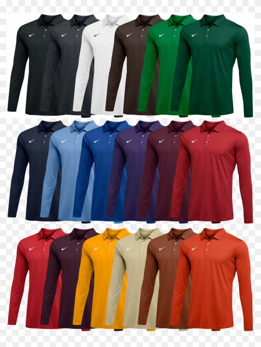 bef54c46e89 Custom Nike Long Sleeve Polo Shirts - Polo Shirt, HD Png Download ...