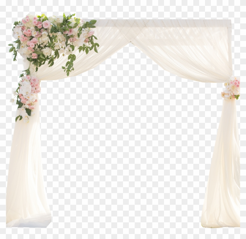 Simple Chiffon Wedding Arch Arbor Canopy Hd Png Download 2400x2400 5693959 Pngfind